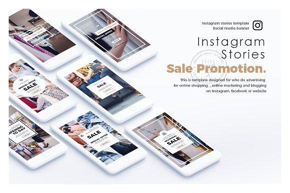 Sale Promotion free: instagram stories templates download Instagram Story by brandbuilt on @creativemarket