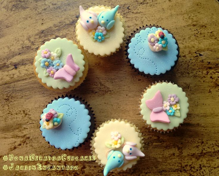 Cupcakes Jardim Encantado #GardenCupcakes