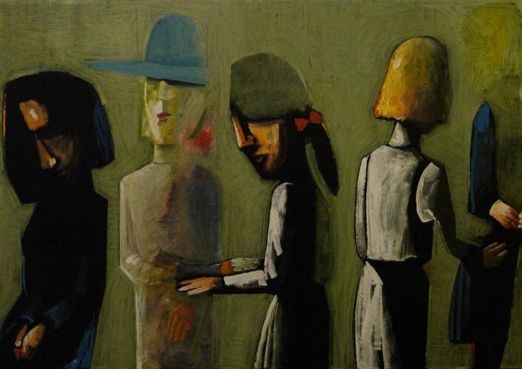 Charles Blackman. This painting is in Ballarat Fine Art Gallery
