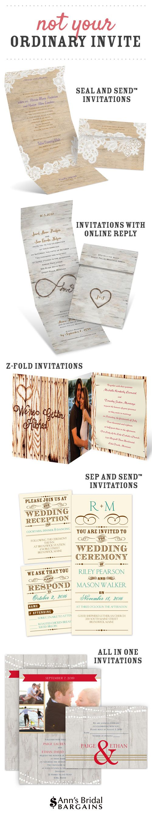 wedding invitation wording with no reception%0A Ann u    s Bridal Bargains specializes in designing affordable wedding  invitations that rival those of our higher priced