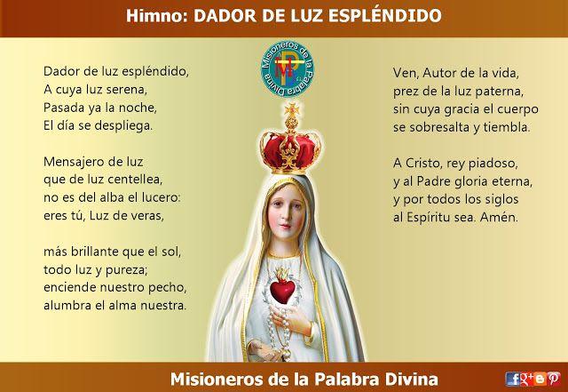 MISIONEROS DE LA PALABRA DIVINA: HIMNO LAUDES - DADOR DE LUZ ESPLÉNDIDO