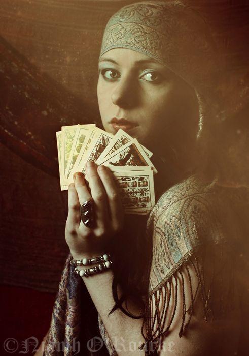Gypsy Fortune teller. #Tarotcards