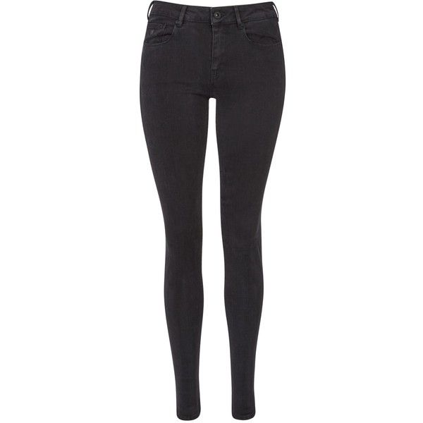 Maison Scotch La Bohemienne Mid Rise Skinny Jeans, Precious Rock (€115) ❤ liked on Polyvore featuring jeans, super high-waisted skinny jeans, high-waisted jeans, skinny leg jeans, skinny fit jeans and high waisted jeans