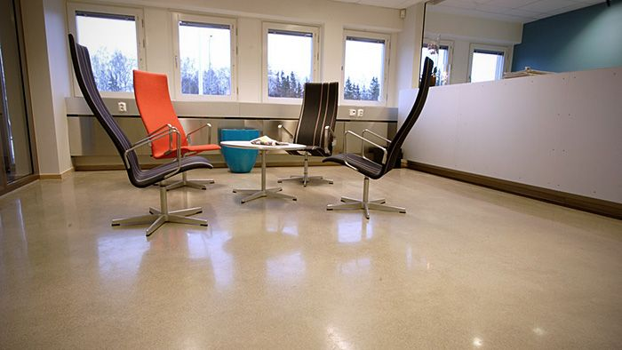 Polished Concrete office flooring using HTC Superfloor™ #polishedconcrete #office #floor #officedesign #soeasytoclean
