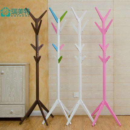 Европейский творческий вешалка одежды IKEA Пальто спальня гостиная пол вешалка дерево 25 провинций доставка