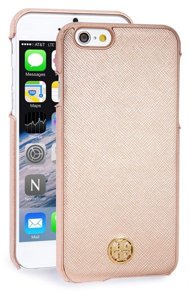 quality design 39738 a0f6b Tory Burch 'Robinson' Saffiano Leather iPhone 6 Case available at ...