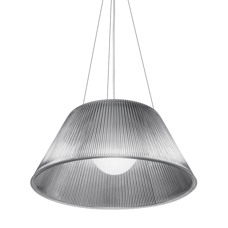 General - Brand: Flos Designer: Philippe Starck  Dimensions - Height: 225mm Width: 500mm Max Cable Drop: 4000mm  Electrical -  Light Source: Halogen Bulb Type: E27 Max Wattage: 150W Light Colour: Warm White Voltage: 240V Dimmable: Yes IP Rating: IP20
