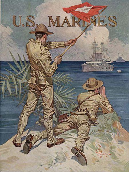 U.S. Marine recruitment poster, 1918