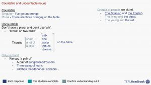 Countable and uncountable   EFL – ESL activities, games and resources