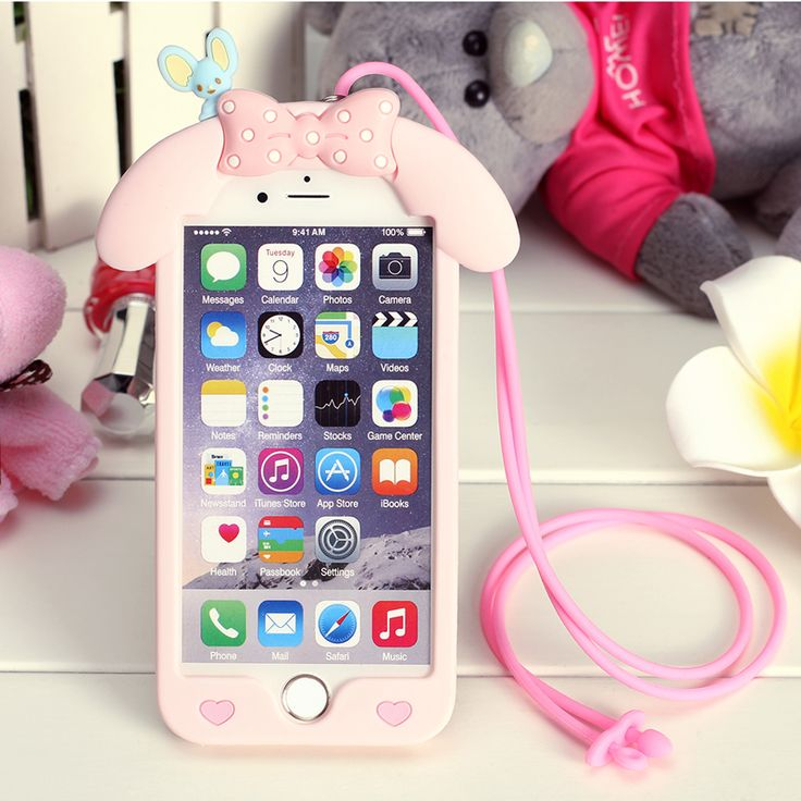 Cheap phone cases, Buy Quality 3d phone case directly from China case plus Suppliers: Cute Cartoon My Melody 3D Phone Case For Apple iPhone 5s 6 6s plus 7 soft silicone protective cover with lanyard