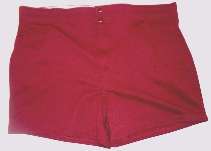 Vintage Spalding Classic Men's Softball Maroon Shorts XXL 44-46 GPB J184 #Spalding