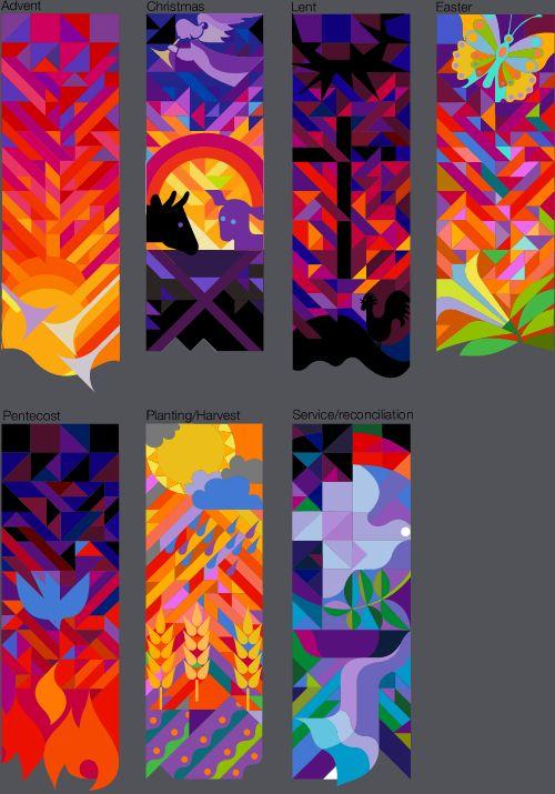 Bob Regier, 7 Liturgical Banner Designs