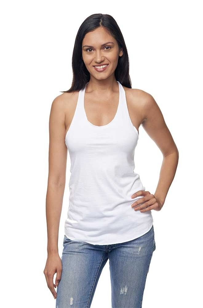 979af4258706a 73008 Women s Viscose Bamboo   Organic Cotton Raw Edge Tank Top ...
