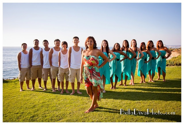Quinceanera honor court photo shoot