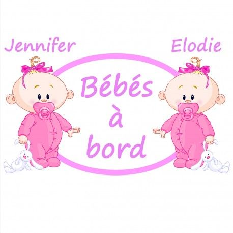 #Stickerjumelles bébé à bord , craquant ! http://www.bebe-abord.com/stickers-autocollants-jumeaux-et-triples/212-sticker-bebe-a-bord-pour-jumelles.html