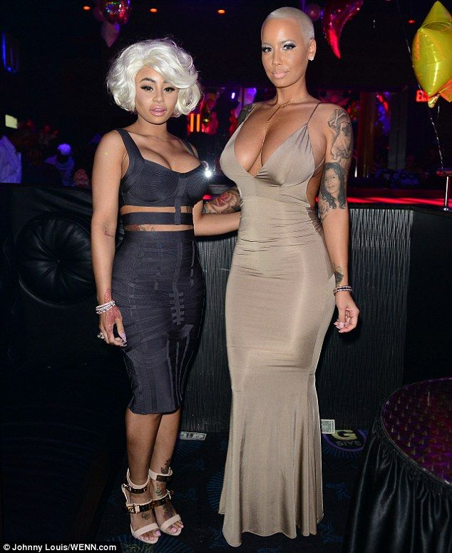 Girls' night out: The 31-year-old hosted an event with BFF Blac Chyna on Friday night...