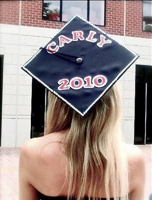Blinged- out Graduation CapDecor Graduation, Cap Ideas, Grad Cap, Diy Crafts, Colleges Graduation, Decorated Graduation Caps, Cap Fun, Crafts Diy, Carlye Graduation