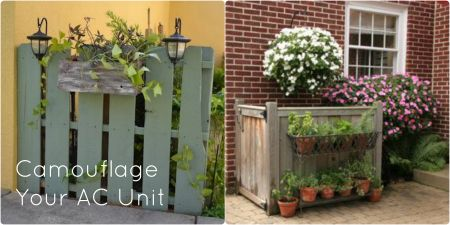 Don;t let your AC unit be an eyesore. Here are a few ideas from Getzschman to camouflage your AC unit that might make you forget it's even there!