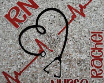 BSN RN  Custom Nurse Graduation Cap Topper by GlitterMomz on Etsy