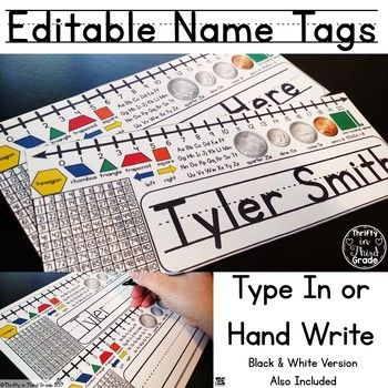 Editable Name Tags for your students' desks! You can edit these in powerpoint
