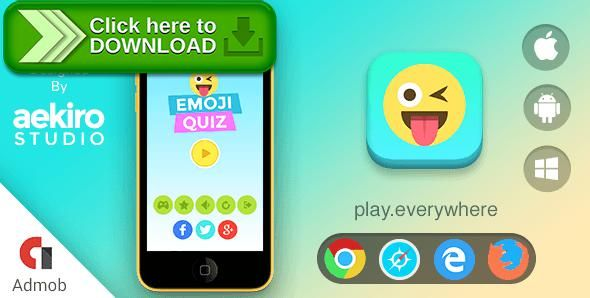 [ThemeForest]Free nulled download Emoji Quiz from http://zippyfile.download/f.php?id=42746 Tags: ecommerce, android, browser game, casual, challenging, guess the emoji, iphone, quiz, quiz game, trivia