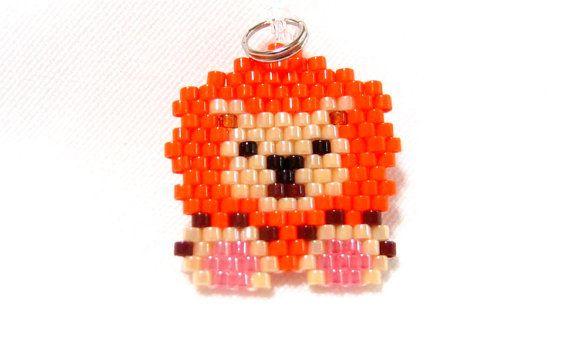Brick Stitch Lion Charm Beaded Jungle Animal by BeadCrumbs on Etsy