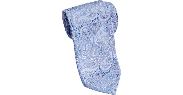 Check this out! Joseph Abboud Blue Paisley Narrow Extra Long Tie - Men's Extra Long Ties from MensWearhouse. #MensWearhouse