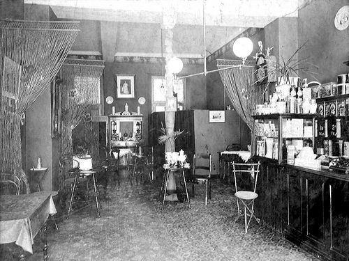 Interior of the Dutch Coffee House in Long Street, Cape Town circa 1895