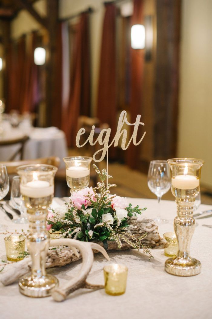 Calligraphy Table Numbers Canmore Mountain Wedding At Silvertip Resort Corrina Walker Photography Via Mountainsideb Tablescapes From Aisle Society