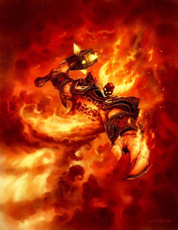 ArtStation - Ragnaros the Firelord for Hearthstone, Greg Staples