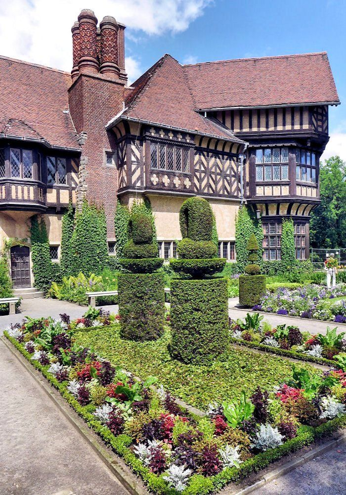 Elegant Schloss Cecilienhof is located in the northern part of the New Garden Potsdam Germany