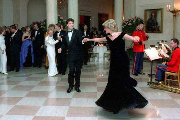 Princess Diana dancing with John Travolta.