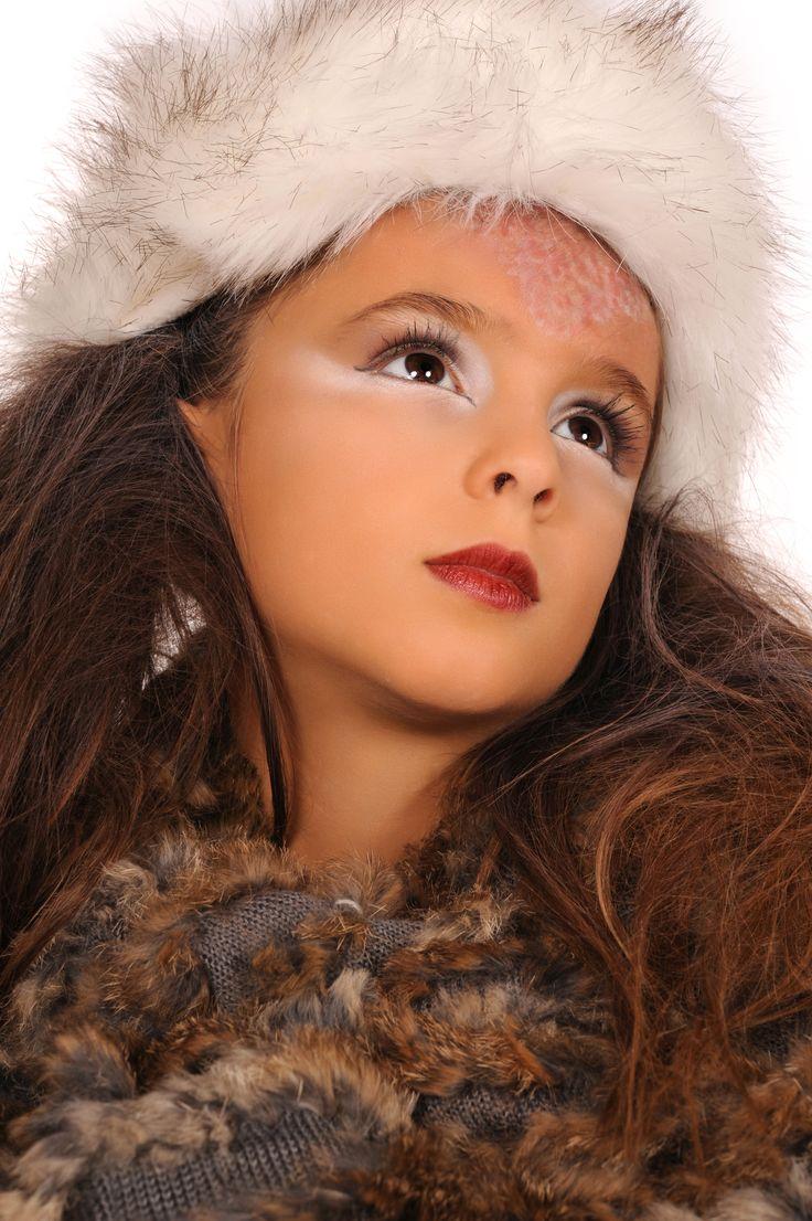 High Fashion kids make-up - Fotografie door Fotoaanhuis Lincy - MUA Julie Geldhof