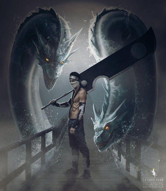 NARUTO SHIPPUDEN, Fan art, Zabuza with Water Dragon Bullet Technique