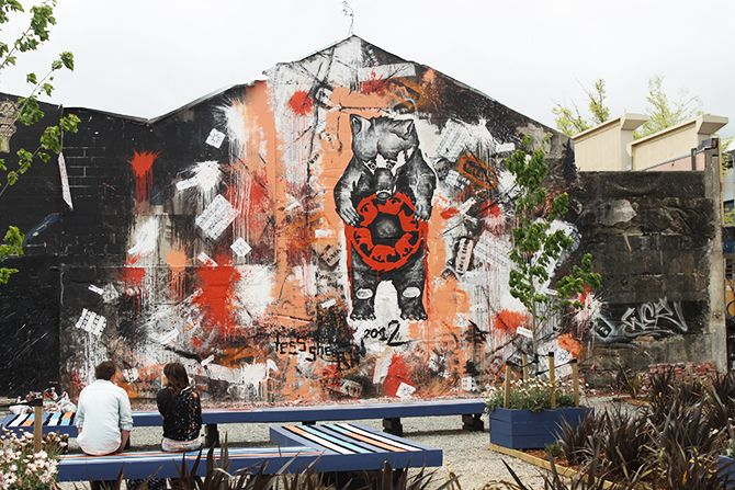 The Hope Bear, a mural for the Christchurch rebuild