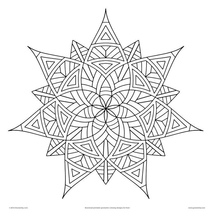 geometric design geometric coloring pagesmandala