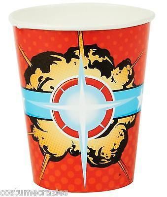 SUPERHERO-PARTY-CUPS-Pack-of-8