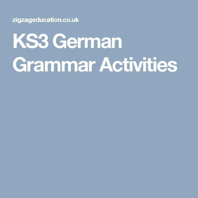 KS3 German Grammar Activities