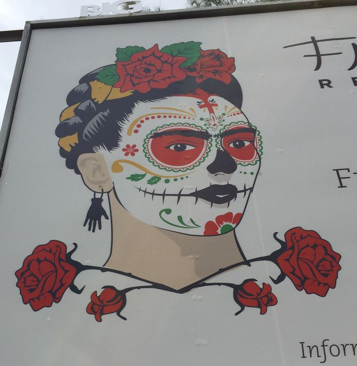 Frida Kahlo gets her Day of the Dead treatment.