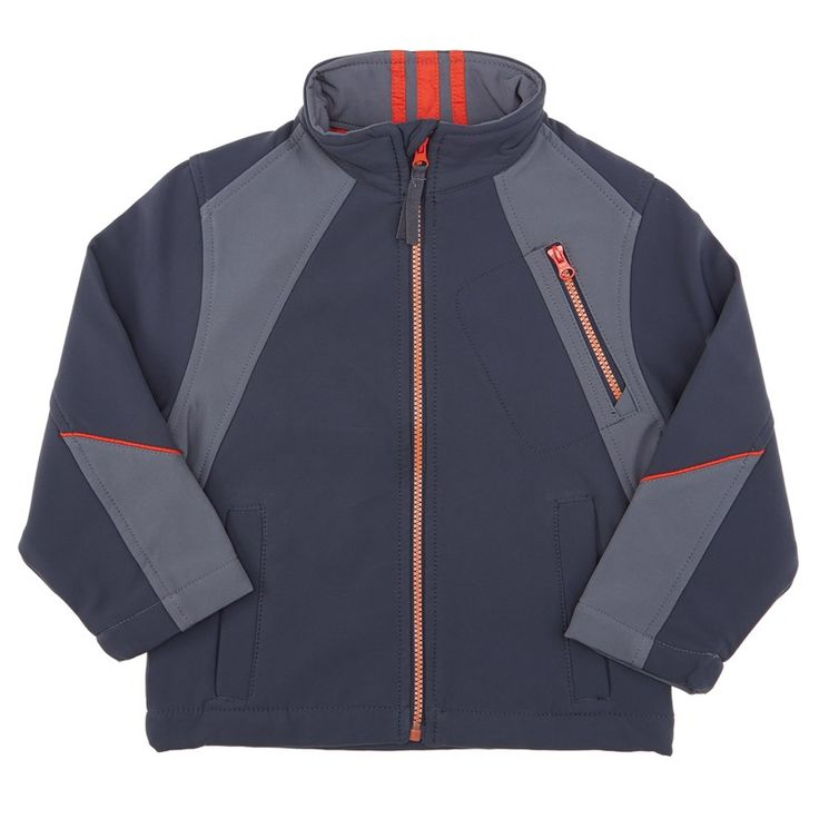 Color Block Soft Shell (4-7) (gris y naranja)
