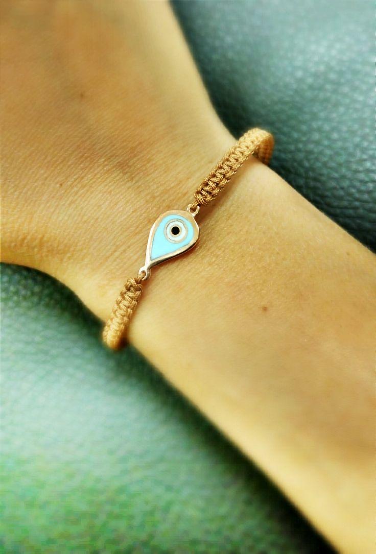 gold bracelet with eye 14k