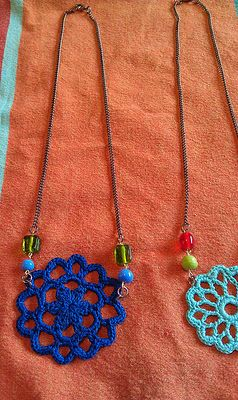 crochet motif necklaces by robyn chachula