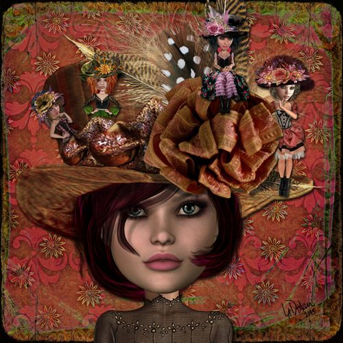 DntFYHDorFriends_web Digi page by Lisa Dolan...Xquizart Art Dolls & Papers