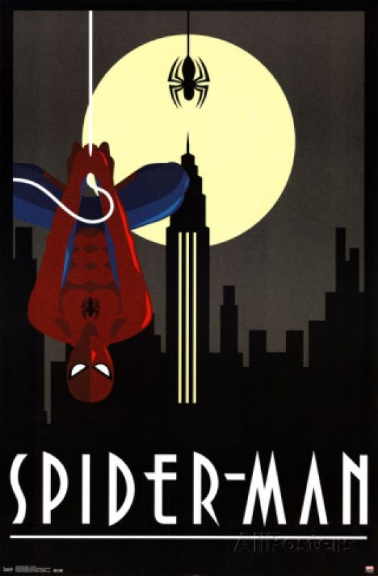 Spiderman Art Deco Poster Print (24 X 36) - Item # SCO13232 - Posterazzi