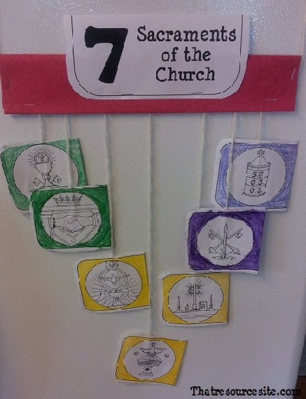 chpt 16 - Seven Sacraments Mobile and Lesson (Version 2)   Thatresourcesite – Educational and Religious Education Resources for Teachers and Homeschoolers.