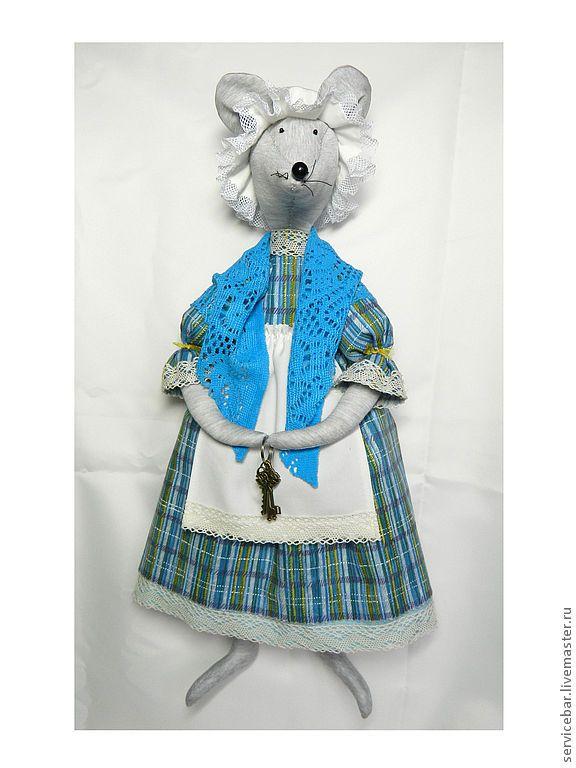 Купить Мышь текстильная Матильда - ключница - мышь, мышка, игрушка ручной работы, игрушка текстильная