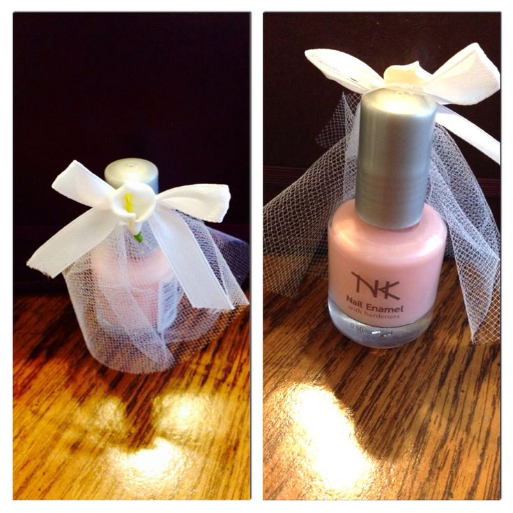 Nail Polish Bride With Veil Bridal Shower DIY