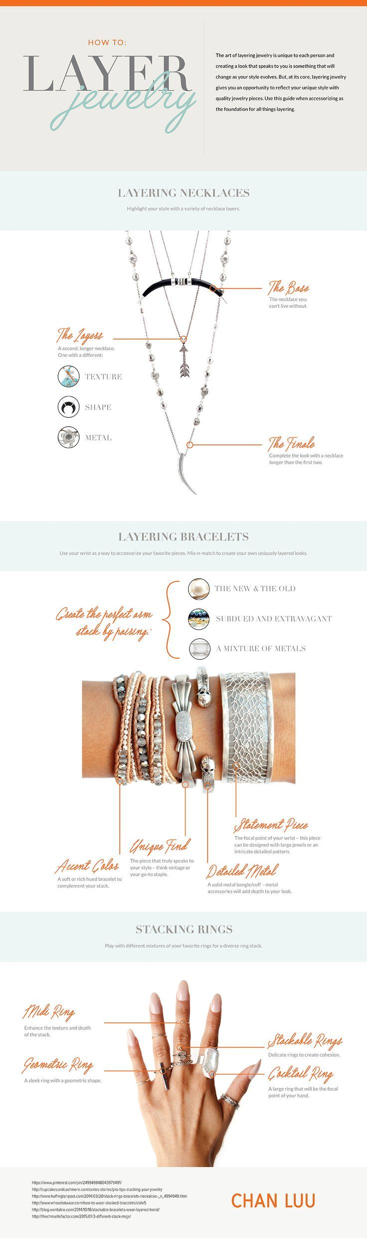 Who knew there were rules to layer jewelry?