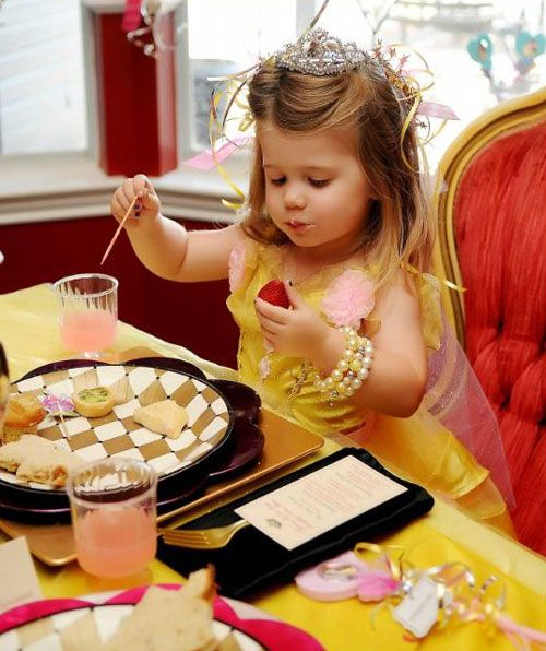 princess Belle beauty and the beast birthday party breakfast soiree princess drawing. love the idea of plastic pedestal cups