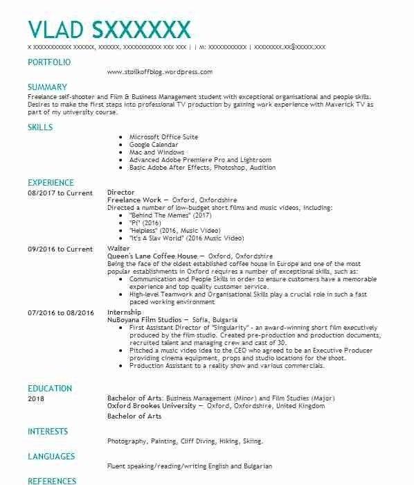 312 Film Cv Examples Entertainment And Media Cvs Livecareer Cv Design Template Cv Examples Cv Resume Sample